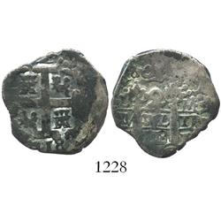 Lima, Peru, cob 2 reales, 1718M.