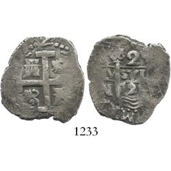 Lima, Peru, cob 2 reales, 1728N.