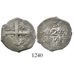 Lima, Peru, cob 2 reales, 1736N.