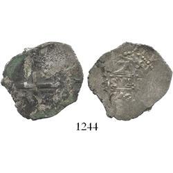 Lima, Peru, cob 2 reales, 1740V.