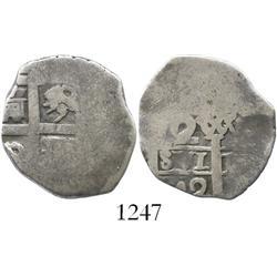 Lima, Peru, cob 2 reales, 1742V.