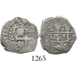 Lima, Peru, cob 1 real, 1692V.