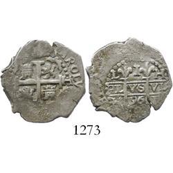 Lima, Peru, cob 1 real, 1696H.