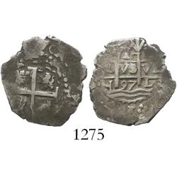 Lima, Peru, cob 1 real, 1697H.