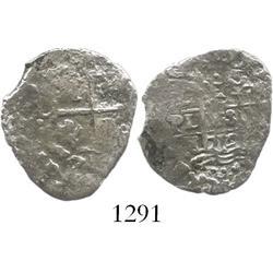 Lima, Peru, cob 1 real, 1712M, very rare.