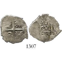 Lima, Peru, cob 1 real, 1735N.