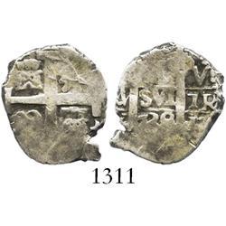 Lima, Peru, cob 1 real, 1739V.