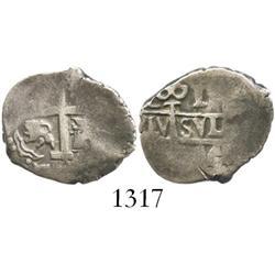 Lima, Peru, cob 1 real, 1744(V), rare.