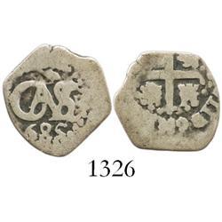 Lima, Peru, cob 1/2 real, 1685.