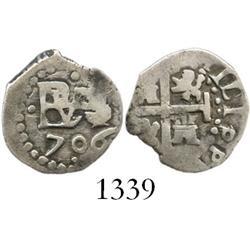 Lima, Peru, cob 1/2 real, 1706.