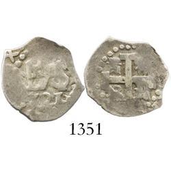 Lima, Peru, cob 1/2 real, 1721.