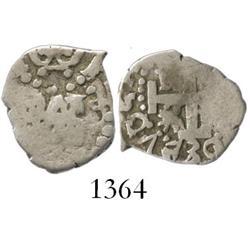 Lima, Peru, cob 1/2 real, 1730 (no assayer).
