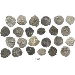 Lot of 12 Lima, Peru, cob 1/2R, Philip V (second reign), various dates (1726, 1727, 1728, 1732 [2],