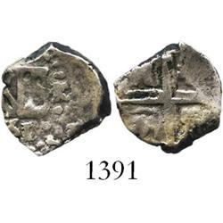 Lima, Peru, cob 1/2 real, 1751/0R, very rare.