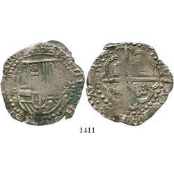 Potosi, Bolivia, cob 8 reales, 162(8-9)P.
