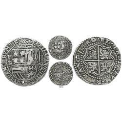 Potosi, Bolivia, cob 8 reales Royal, 1650O, rare.