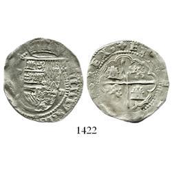 Potosi, Bolivia, cob 2 reales, Philip II, assayer not visible (Rincon).