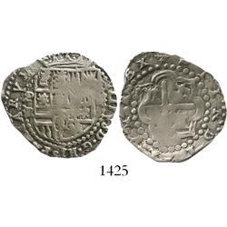 Potosi, Bolivia, cob 2 reales, Philip II, assayer R (Ramos).
