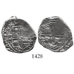 Potosi, Bolivia, cob 2 reales, (16)20T, rare.
