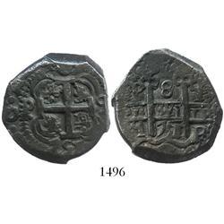 Potosi, Bolivia, cob 8 reales, 1751q.