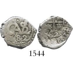 Potosi, Bolivia, cob 1/2 real, 1682.