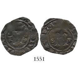 Santo Domingo, copper 4 maravedis, Charles-Joanna, assayer F.