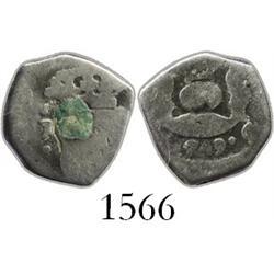 Guatemala, cob 1/2 real, 1749J.
