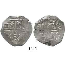 Spain (mint uncertain), cob 4 reales, 1615, assayer not visible.