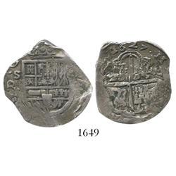 Seville, Spain, cob 4 reales, 1627R.