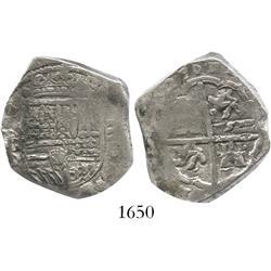 Toledo, Spain, cob 4 reales, 1627P.