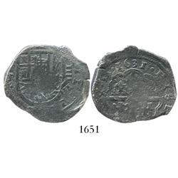 Seville, Spain, cob 4 reales, 1631R.