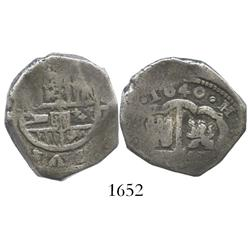 Spain (mint uncertain), cob 4 reales, 1640, assayer not visible.