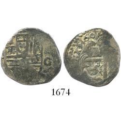 Granada, Spain, cob 2 reales, 1602M.