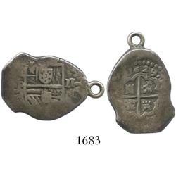 Madrid, Spain, cob 2 reales, 1629/8BI, rare (unlisted overdate).