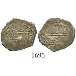 Seville, Spain, cob 1 real, 1627, assayer not visible.