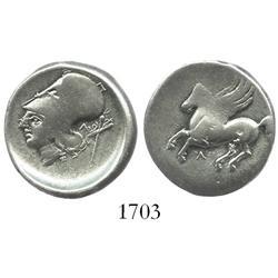 """Leukas, Acarnania, silver stater """"pegasus,"""" 330-250 BC."""