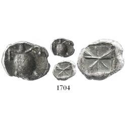 "Aegina, silver hemidrachm ""turtle,"" 510-490 BC."