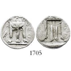 """Kroton, Bruttium, silver stater """"tripod,"""" 480-430 BC."""