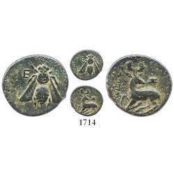 Ephesus, Ionia, bronze AE14, 387-295 BC.