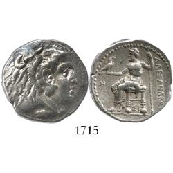Kingdom of Macedon, silver tetradrachm, Alexander III (the Great), 336-323 BC.