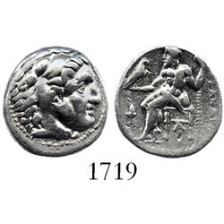 Kingdom of Macedon, Sardes mint, silver drachm, Philip III, 323-319 BC.