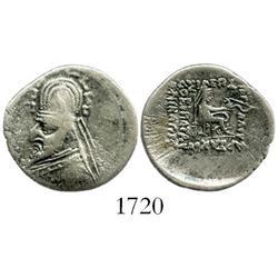 Kingdom of Parthia, silver drachm, Orodes I (90-77 BC).