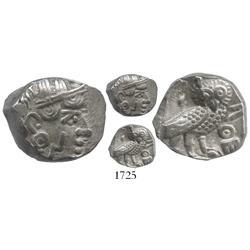 """Sabaeans (Arabia, Yemen region), silver drachm """"owl,"""" 3rd-2nd century BC."""