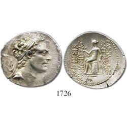 Seleukid kings, silver tetradrachm, Antiochus IV Epiphanes, 174-164 BC.