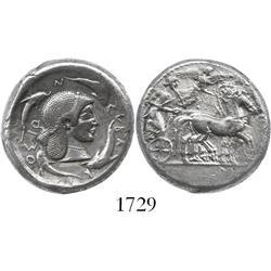 Syracuse, Sicily, Gelon, silver tetradrachm, 480-475 BC.