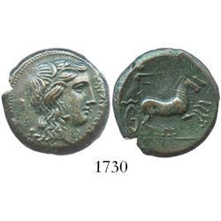 Syracuse, Sicily, Hiketas, bronze AE24, 287-278 BC.