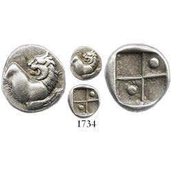 Thrace, silver hemidrachm, Cherroneos, ca. 400-350 BC.