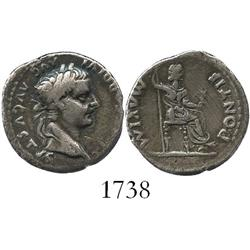 "Roman Empire, denarius, Tiberius (14-37 AD) ""tribute penny,"" struck in Rome."