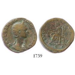 Roman Empire, bronze sestertius, Orbiana (wife of Severus Alexander), 225-235 AD, rare.