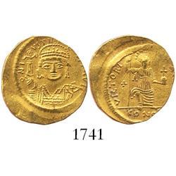 Byzantine Empire, gold solidus, Justin II (565-578 AD), Alexandria mint.